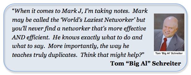 Tom Big Al Schreiter Testimonial