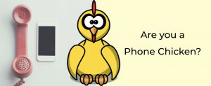 self confessed phone chicken