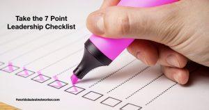leadership checklist.